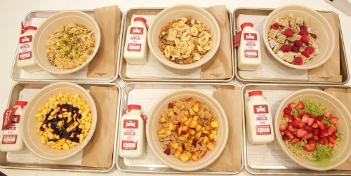 New @KelloggsNYC cereal cafe offers dishes featuring Kellogg's cereals combined with unique ingredients, all served with a side of fun. (PRNewsFoto/Kellogg Company)