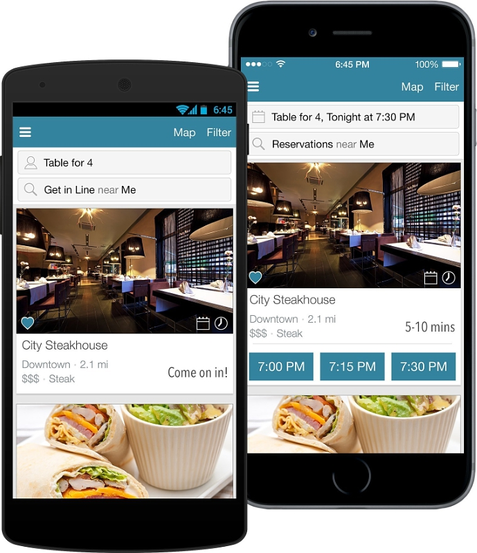 DineTime(r) Releases App Update to Provide Diners With Wait Times for Thousands of Restaurants (PRNewsFoto/DineTime)