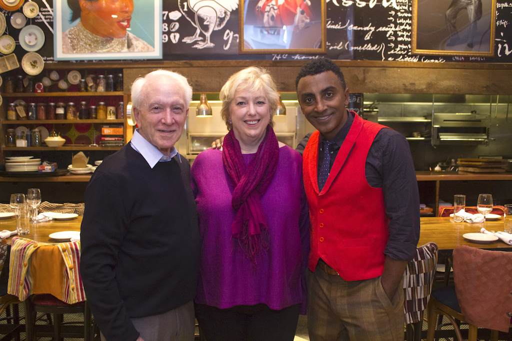 C-CAP Founder Richard Grausman, C-CAP President Karen Brosius and C-CAP Board Co-Chair Marcus Samuelsson